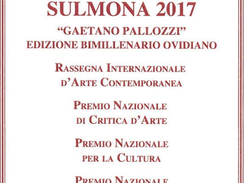 Premio Sulmona 2017