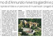 Corriere della Sera 26/05/2017: Il dinamismo di d'Annunzio rivive tra giardini e profumi
