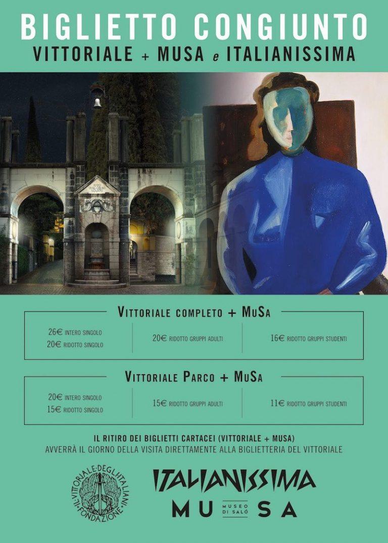 Biglietto congiunto Vittoriale + MuSa e Italianissima